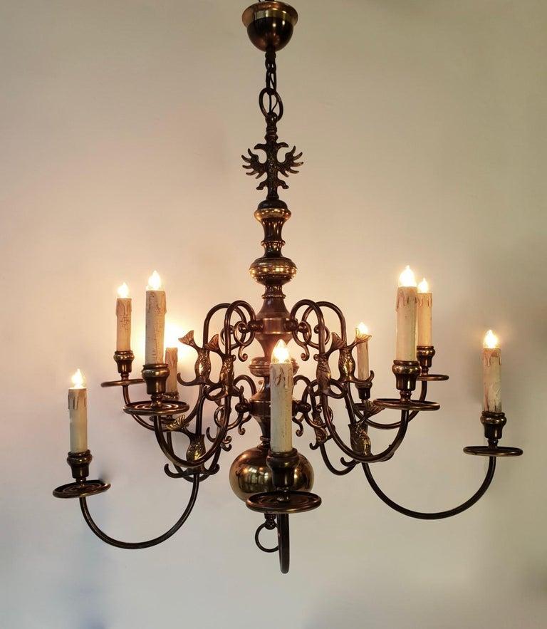 Magnificent Belgian Dutch Baroque-Style Chandelier For Sale 1