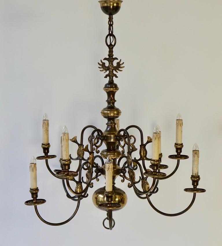 Magnificent Belgian Dutch Baroque-Style Chandelier 9