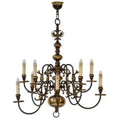 Magnificent Belgian Dutch Baroque-Style Chandelier