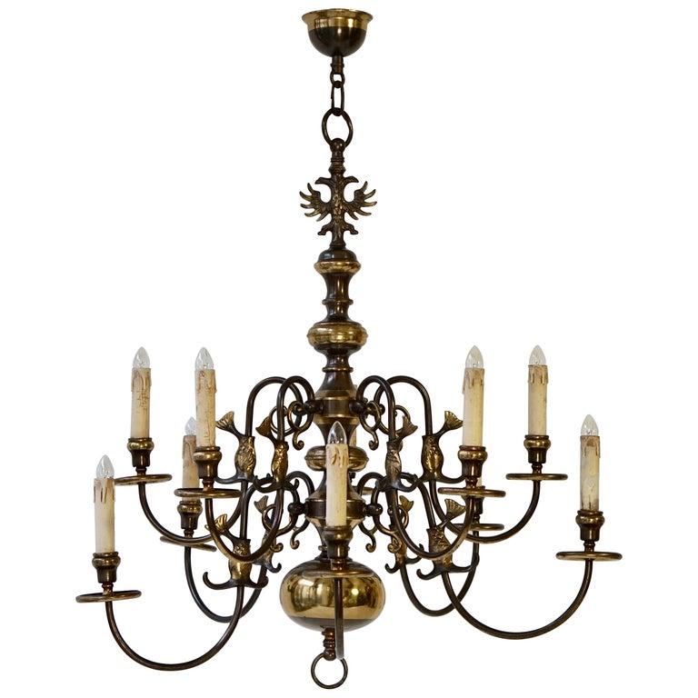Magnificent Belgian Dutch Baroque-Style Chandelier For Sale