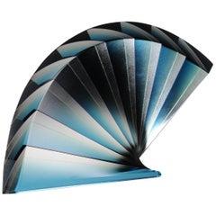 """Magnificent """"Blue Fan"""" Sculpture by Laszlo Lukacsi"""