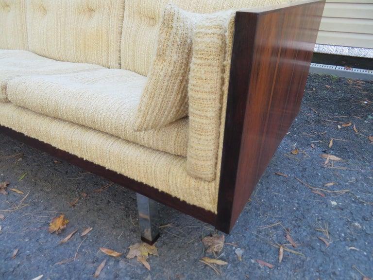 Magnificent Brazilian Rosewood Jydsk Mobelvaerk Case Sofa Danish modern For Sale 11