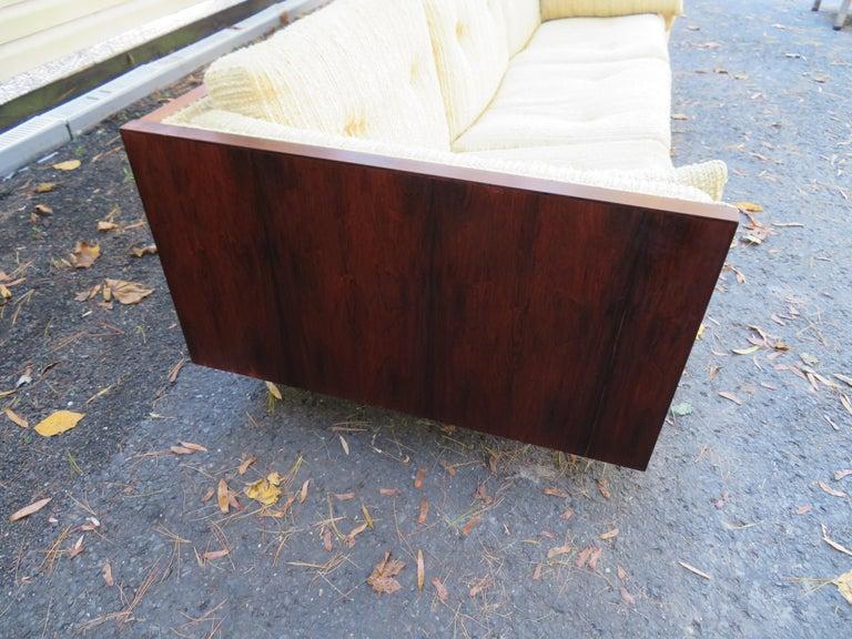 Upholstery Magnificent Brazilian Rosewood Jydsk Mobelvaerk Case Sofa Danish modern For Sale