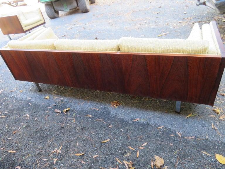 Magnificent Brazilian Rosewood Jydsk Mobelvaerk Case Sofa Danish modern For Sale 1