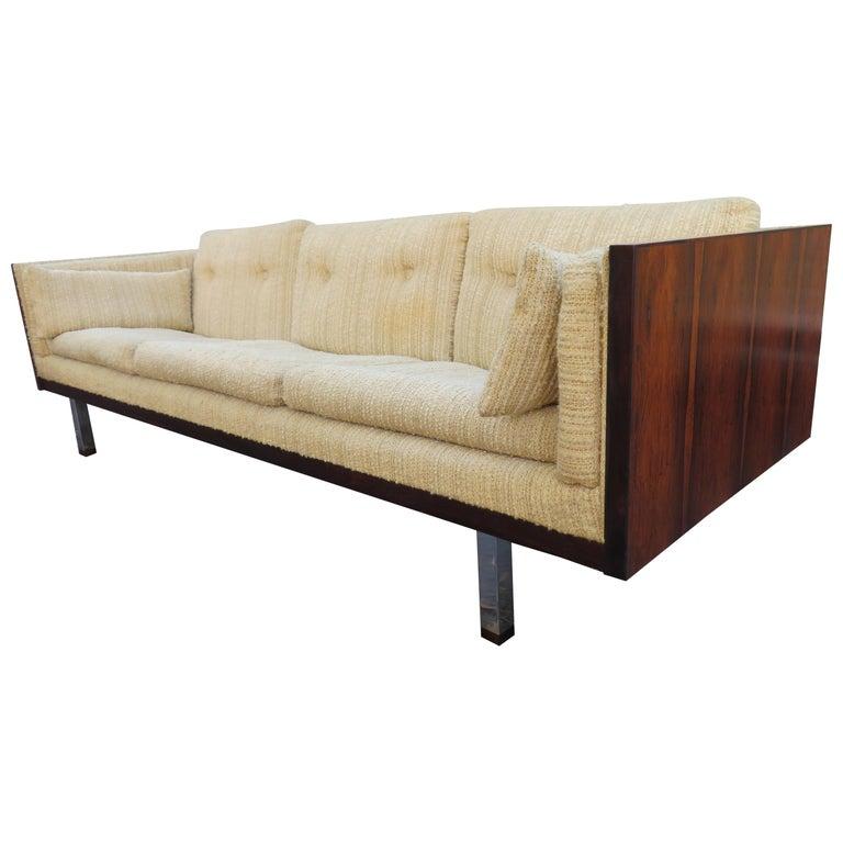 Magnificent Brazilian Rosewood Jydsk Mobelvaerk Case Sofa Danish modern For Sale
