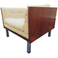 Magnificent Brazilian Rosewood Jydsk Mobelvaerk Cube Chair Danish Modern