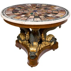 Magnificent Centretable, Top Signed by Fratelli Blasi at Rome in 1827