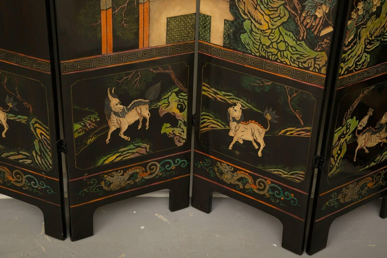 Magnificent Chinese 12-Panel Coromandel Screen For Sale 2