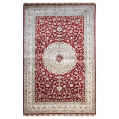 Magnificent Chinese Herekeh Style Silk Rug Traditional Floor Area Rug