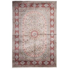 Magnificent Chinese Rug Pink Herekeh Style Silk Rug Traditional Floor Area Rug