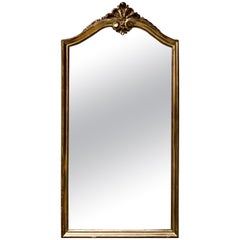 Magnificent Crystal Authentic Hand Carved Giltwood Wall Mirror, 19th Century