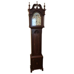 Magnificent Custom Cherry Goddard Style Longcase Clock