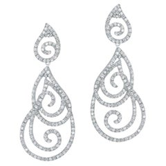 Magnificent Diamond Fine Jewellery White Gold Drop Earrings