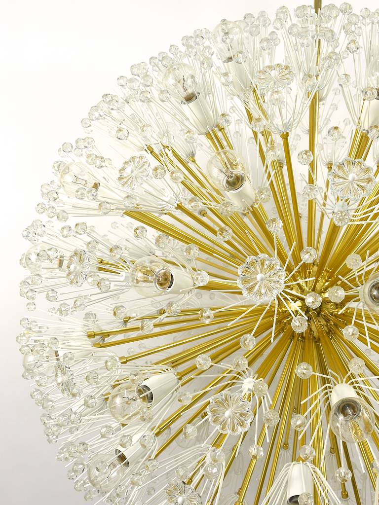 Magnificent Emil Stejnar Blowball Chandelier by Rupert Nikoll, Austria, 1950s In Excellent Condition For Sale In Vienna, AT