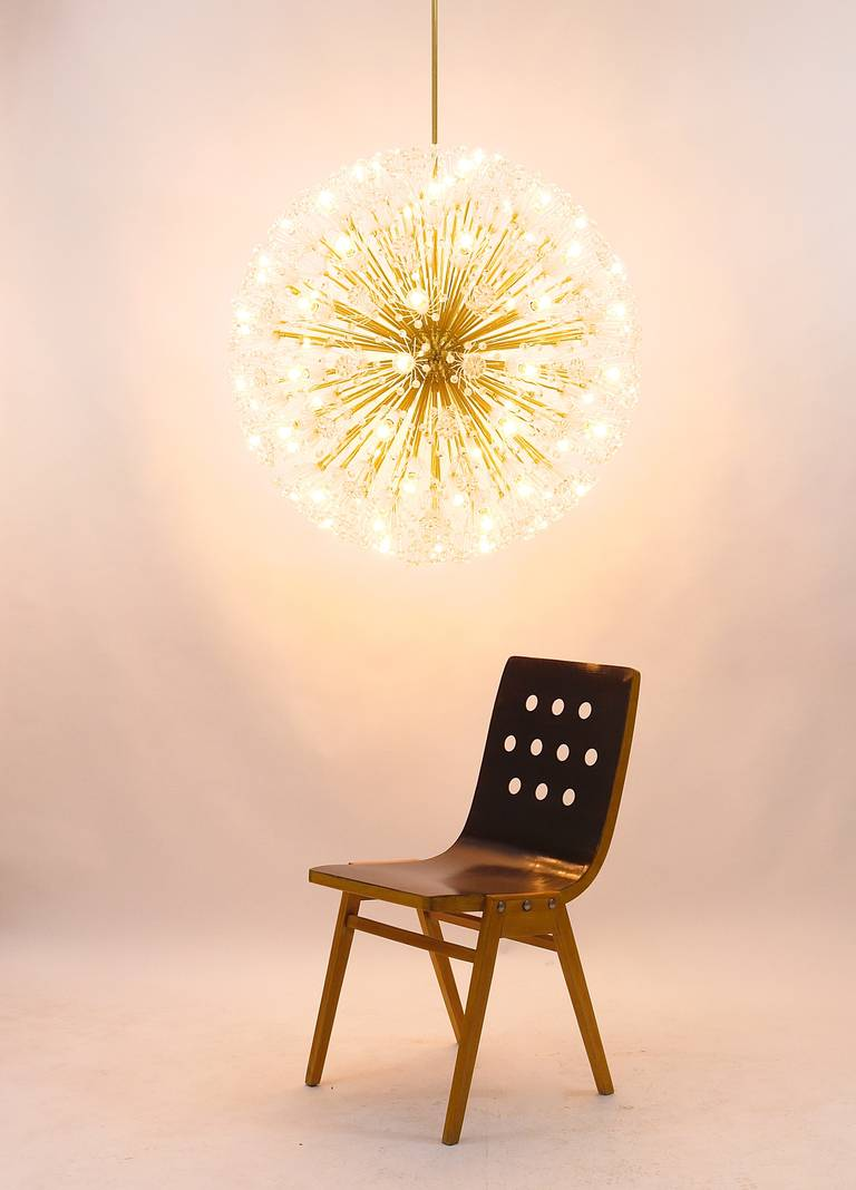 Mid-20th Century Magnificent Emil Stejnar Blowball Chandelier by Rupert Nikoll, Austria, 1950s For Sale