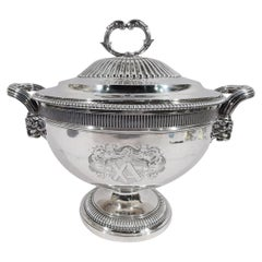 Magnificent English Regency Sterling Silver Soup Tureen by Paul Storr