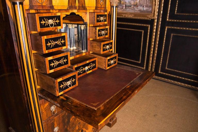 Magnificent Exotic Secretaire in the Biedermeier Style Palisander For Sale 3