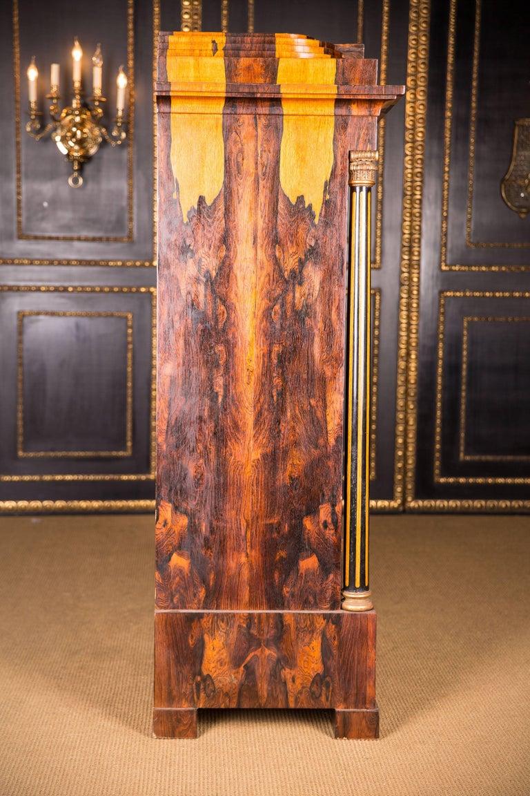 Magnificent Exotic Secretaire in the Biedermeier Style Palisander For Sale 6