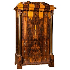 Magnificent Exotic Secretaire in the Biedermeier Style Palisander