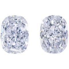 Magnificent Fancy Blue Diamond Pair of 3.10 Carat