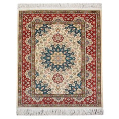 Magnificent Floral Silk Rugs, Turkish Hereke Oriental Rug Handmade Carpet