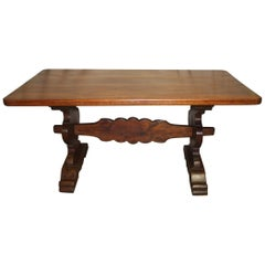 Magnificent French Farm Table, 19th Century