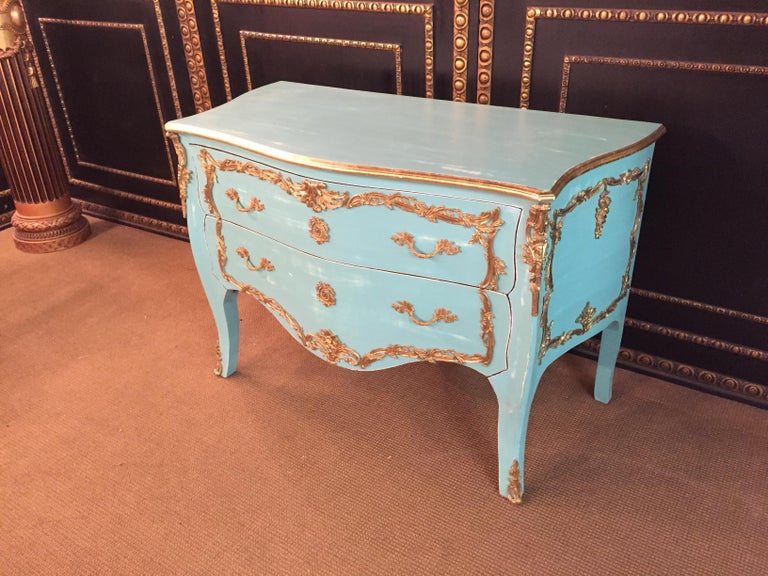 Bronzed Magnificent French Chest of Drawers in Louis Quinze Style For Sale