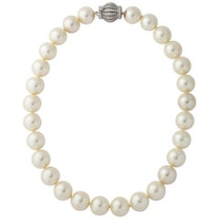 Magnificent French Faux 20mm 24 Inch Pearl Necklace