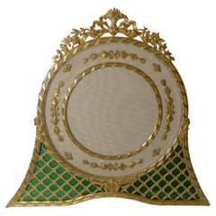 Magnificent French Gilded Bronze & Enamel Picture Frame, c.1900