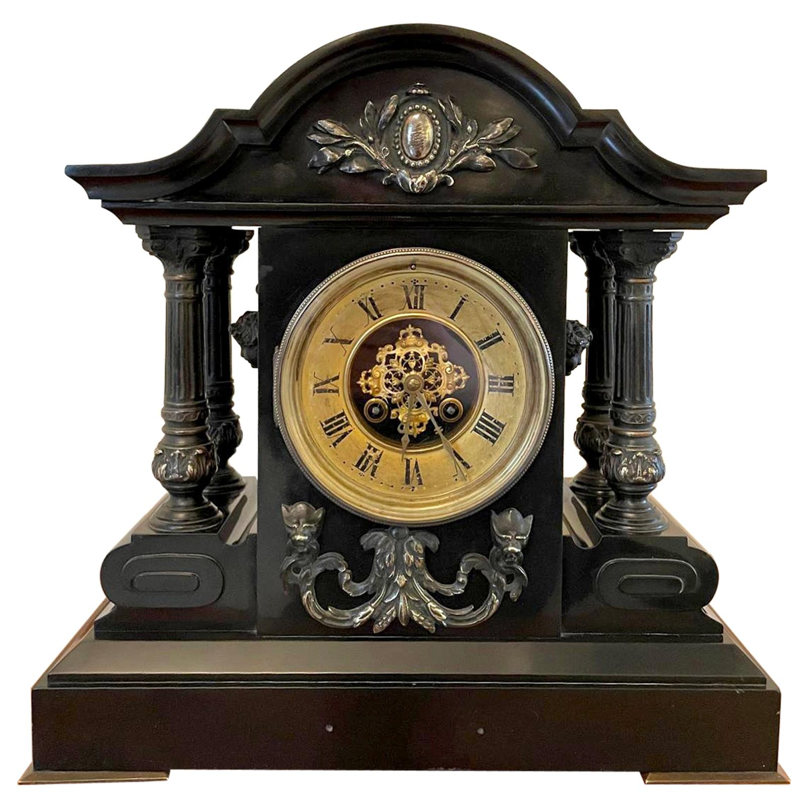 Magnificent French Marble Eight-Day Mantel Clock