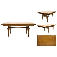 Magnificent French Midcentury Oak Extending Dining Table
