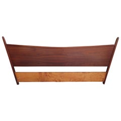 Platform Bed With Walnut Headboard George Nakashima For
