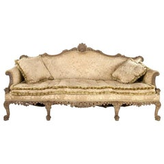 Magnificent Georgian Chippendale Style Walnut Sofa