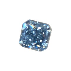 Magnificent GIA Certified 1.41 Carat Fancy Intense Blue Radiant Cut Diamond