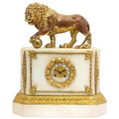 Magnificent Gilt Bronze and Marble Clock
