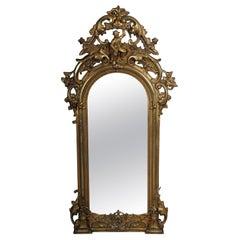Magnificent Golden Baroque Mirror, circa 1860