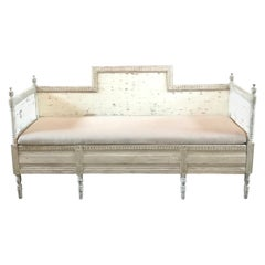 Magnificent Gustavian Carved Wood and Upholstered Settee Sofa