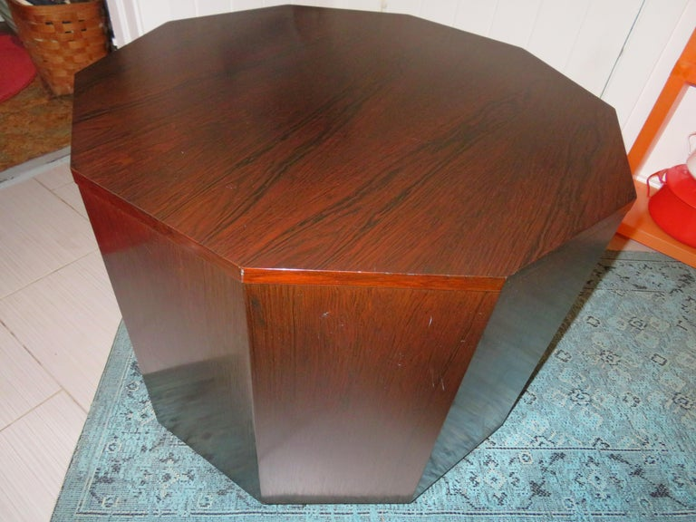Magnificent Harvey Probber Rosewood Decagon Bar Table Mid-Century Modern For Sale 5