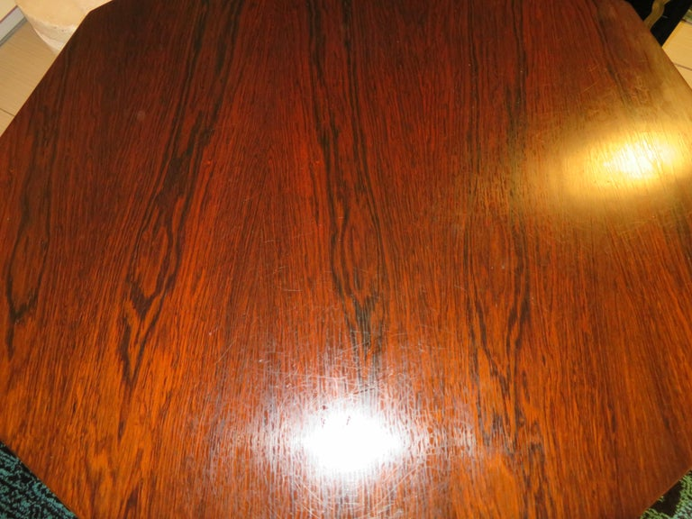 Magnificent Harvey Probber Rosewood Decagon Bar Table Mid-Century Modern For Sale 9