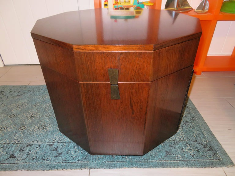 Magnificent Harvey Probber Rosewood Decagon Bar Table Mid-Century Modern For Sale 11