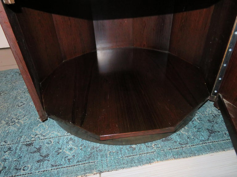 Magnificent Harvey Probber Rosewood Decagon Bar Table Mid-Century Modern For Sale 2
