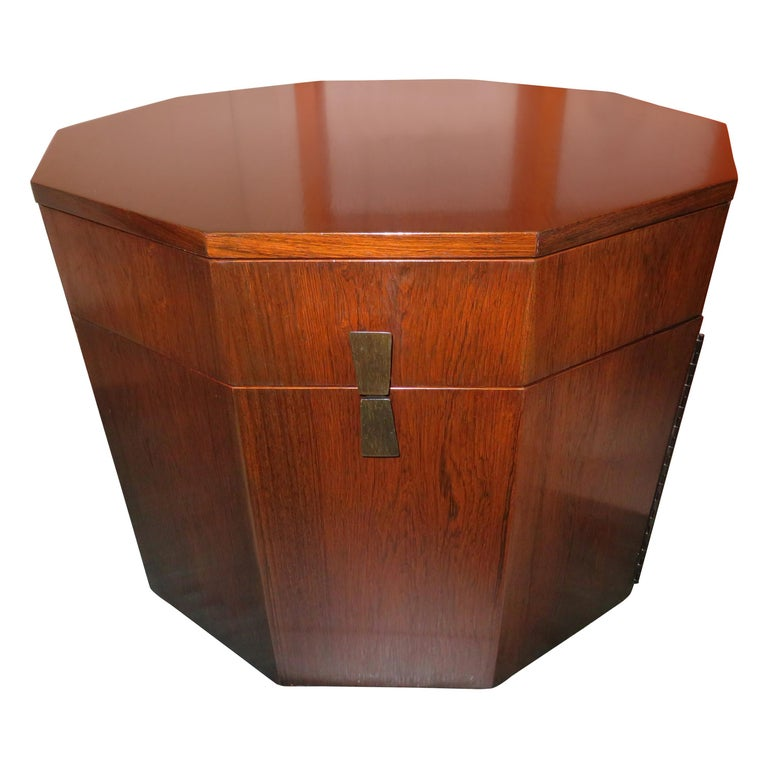 Magnificent Harvey Probber Rosewood Decagon Bar Table Mid-Century Modern For Sale