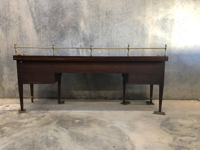 Magnificent Impressively Large 18th Century Mahogany English Georgian Sideboard For Sale 1