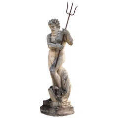 Magnificent Italian Fontaine Sculpture of God Neptune