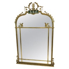 Magnificent Italian Regency Style Mirror with Figural Cameo