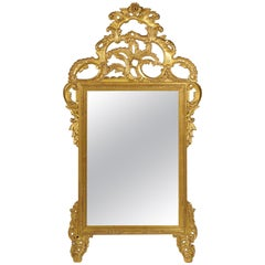 Magnificent Italian Rococo Style Carved Giltwood Wall Mirror by Palladio, Italy