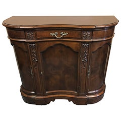 Magnificent Karges Burled Walnut and Mahogany Curvy Credenza