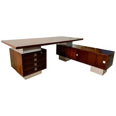 "Magnificent ""L"" Shape Scandinavian Executive Desk"