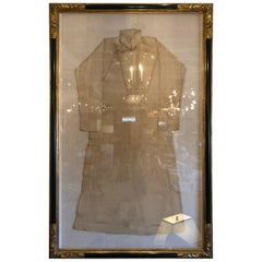 Magnificent Large Antique Silk Kimono in Luxurious Frame