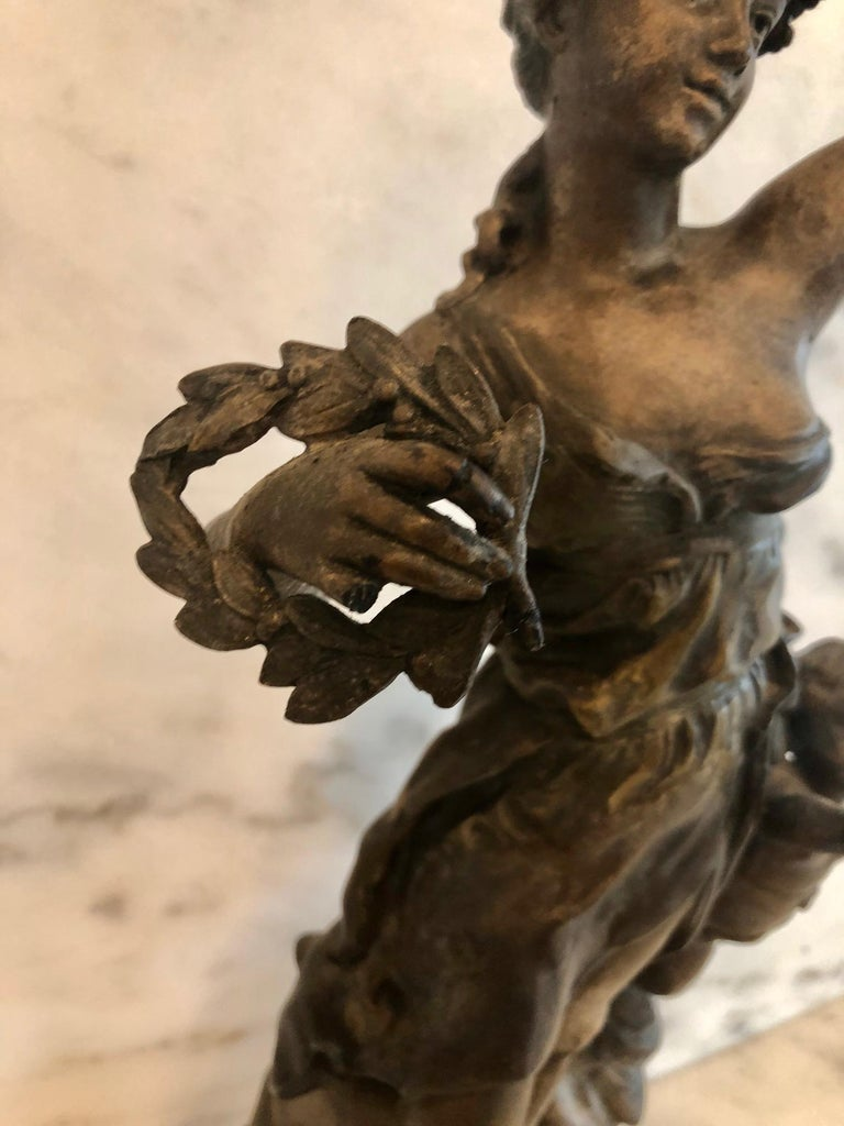 Magnificent Large French 19th Century Bronze Sculpture For Sale 10